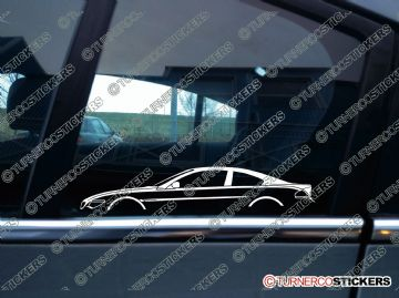 2x Car Silhouette sticker - BMW e63 6-series coupe 2004-2010